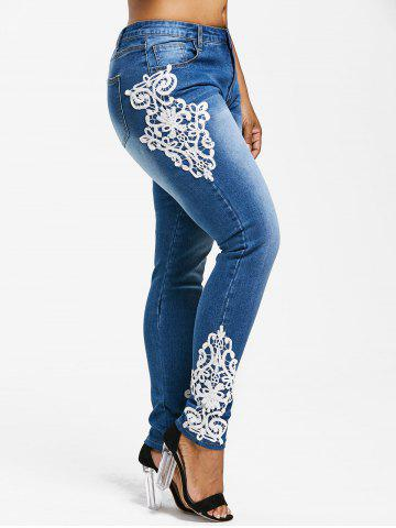 Outfits Plus Size Appliqued Pencil Jeans