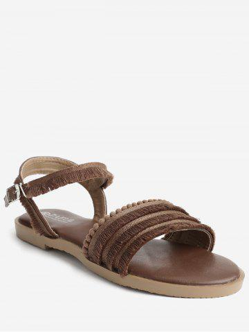 Outdoor Casual Beading Fringes Backless Sandals