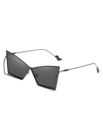Sale Anti Fatigue Hollow Out Frame Irregular Lens Sunglasses