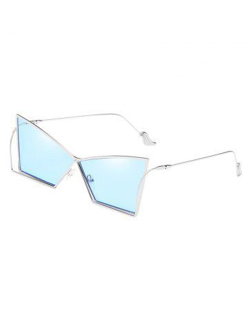 Fancy Anti Fatigue Hollow Out Frame Irregular Lens Sunglasses