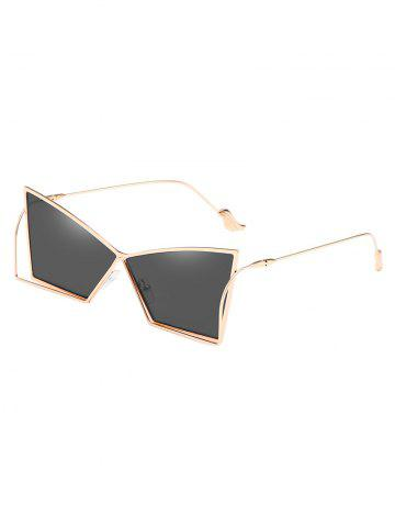 Outfit Anti Fatigue Hollow Out Frame Irregular Lens Sunglasses