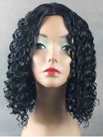 Cheap Medium Center Parting Curly Synthetic Wig