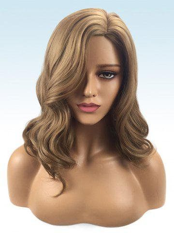 Chic Long Side Parting Wavy Synthetic Wig