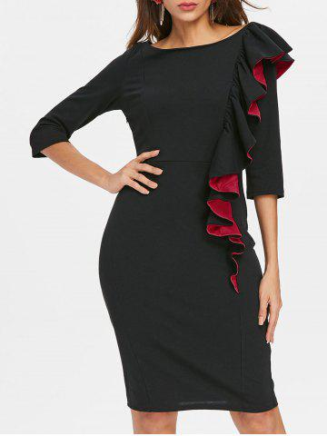 Outfits Ruffle Party Knee Length Dress