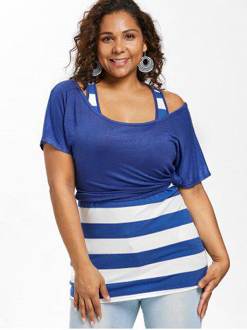 24610514a75fb3 Plus Size Crop T-shirt with Fitted Tank Top