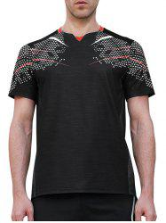 Netty Back Quick Dry Geometric Print  Sports T-shirt -