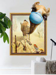 3D Creative Camel Print Removable Wall Sticker -