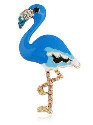 Rhinestone Inlaid Flamingo Pin Brooch -