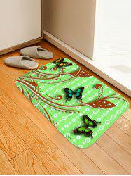 Butterflies Pattern Water Absorption Area Rug -