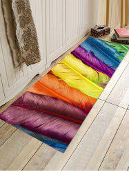 Colorful Feathers Pattern Water Absorption Area Rug -