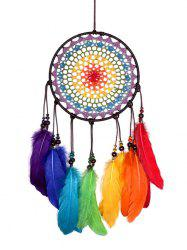 Красочные перья Fringed Handmade Dream Catcher Wall Hanging -