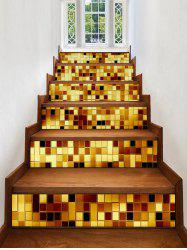 Sparkly Plaid Print Decorative Stair Stickers -