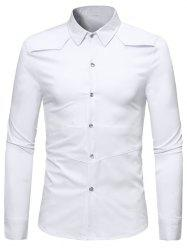 Solid Color Long Sleeve Casual Shirt -