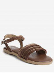 Outdoor Casual Beading Fringes Backless Sandals -