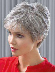 Short Inclined Bang Straight Synthetic Wig -