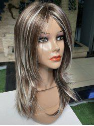 Long Side Bang Colormix Straight Synthetic Wig -