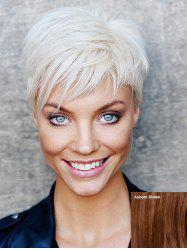 Short Side Bang Straight Capless Human Hair Wig -