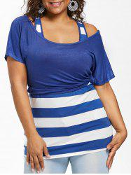 Plus Size Crop T-shirt with Fitted Tank Top -