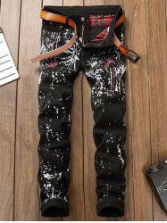 Dragonfly Embroidered Printed Slim Fit Jeans -