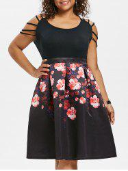 Plus Size Strappy Fit and Flare Dress -