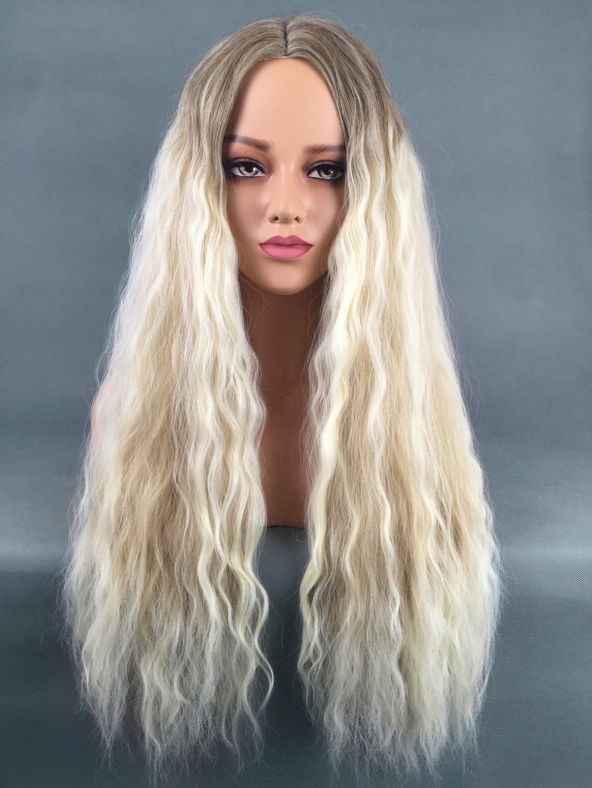 Shop Long Center Parting Colormix Corn Hot Wavy Synthetic Wig
