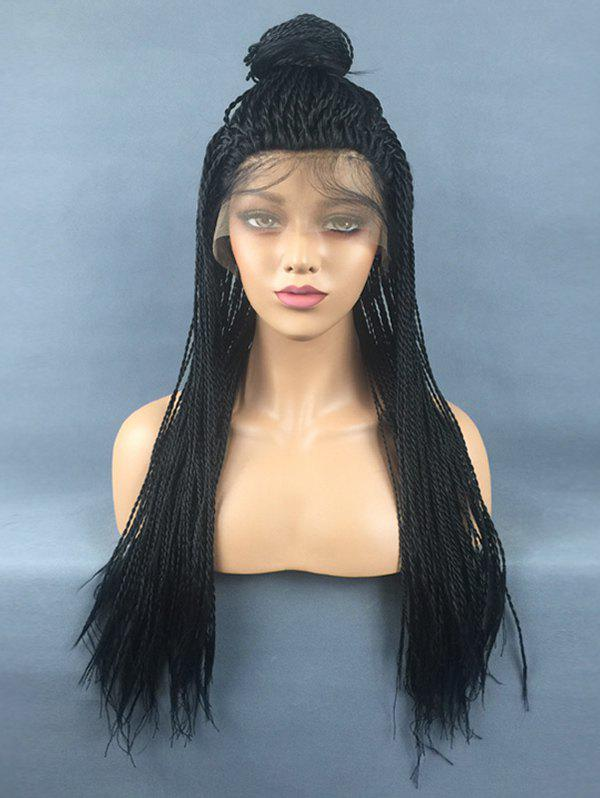 Affordable Free Part Long Twist Braids Lace Front Synthetic Wig