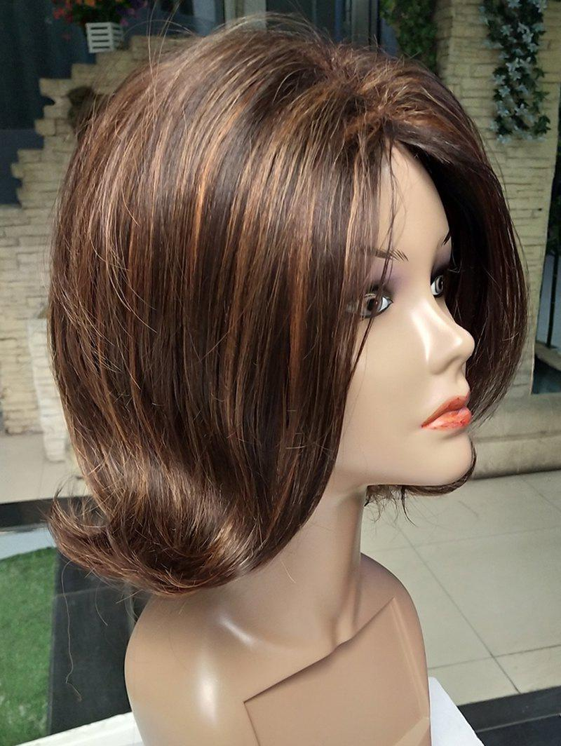 Outfits Short Side Bang Tail Upwards Colormix Straight Synthetic Wig