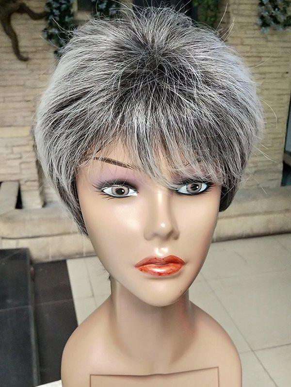 Shop Short Side Bang Colormix Straight Synthetic Wig