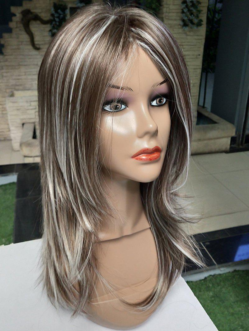 Outfit Long Side Bang Colormix Straight Synthetic Wig