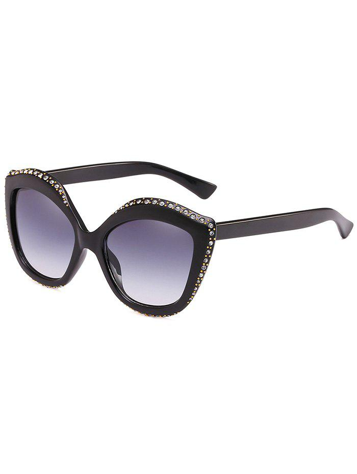 Best Rhinestone Inlay Rivets Catty Sunglasses