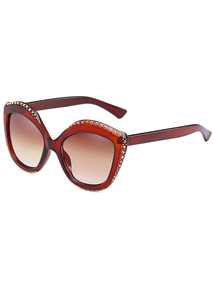 Outfit Rhinestone Inlay Rivets Catty Sunglasses