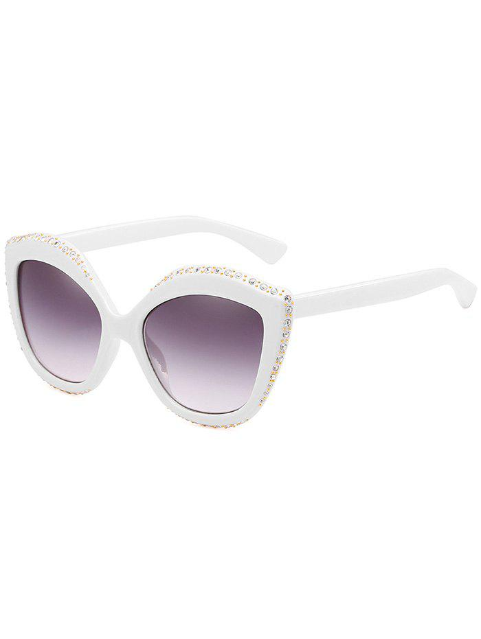 Unique Rhinestone Inlay Rivets Catty Sunglasses