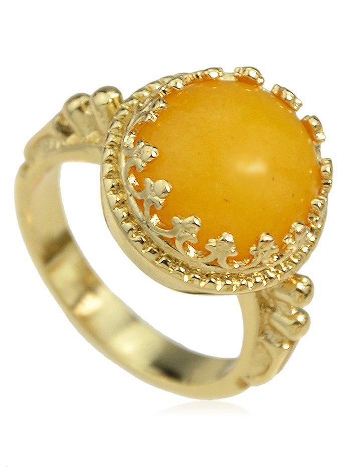 Outfits Hollow Round Artificial Gem Ring