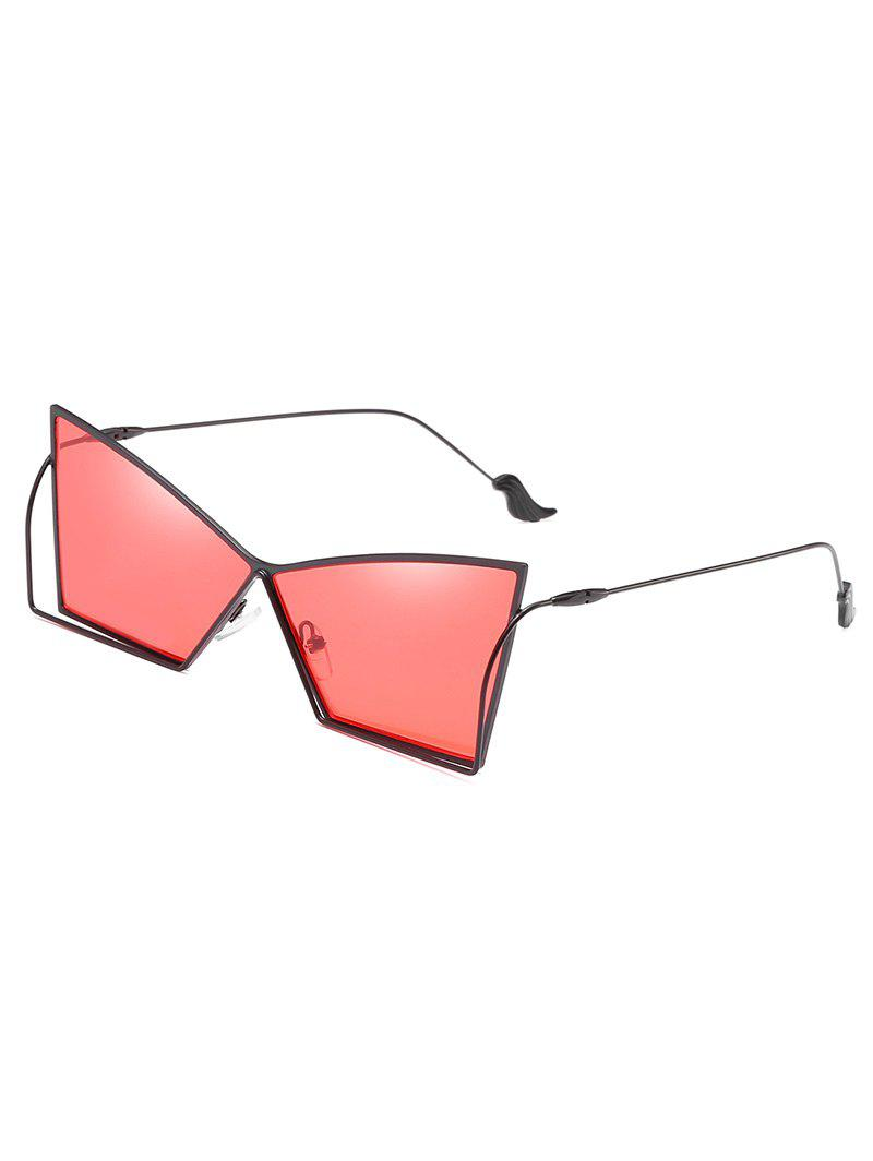 Buy Anti Fatigue Hollow Out Frame Irregular Lens Sunglasses