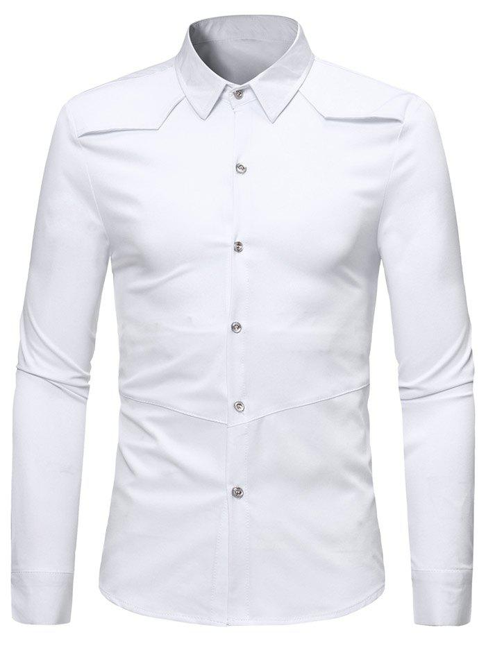 Shop Solid Color Long Sleeve Casual Shirt
