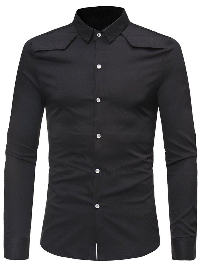 Trendy Solid Color Long Sleeve Casual Shirt