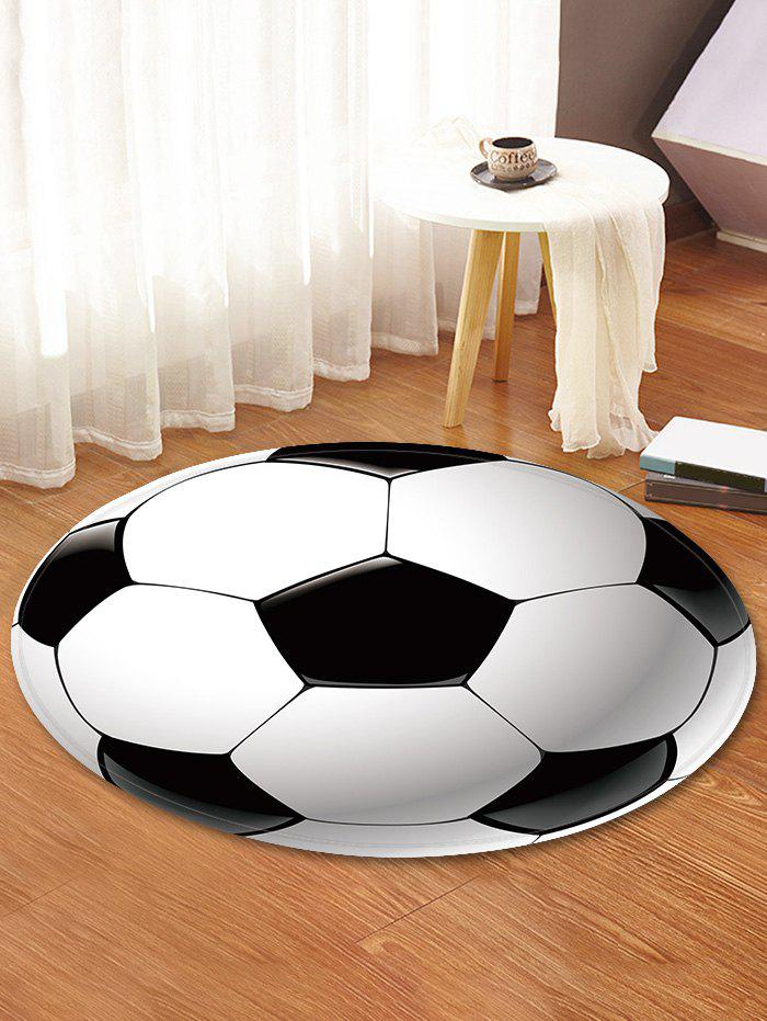 Affordable Football Pattern Anti-skid Round Floor Rug