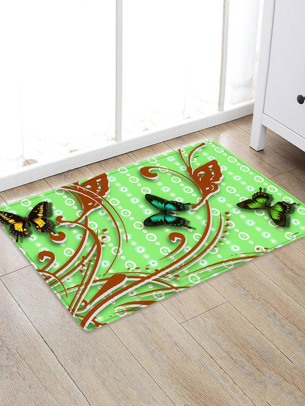 Store Butterflies Pattern Water Absorption Area Rug