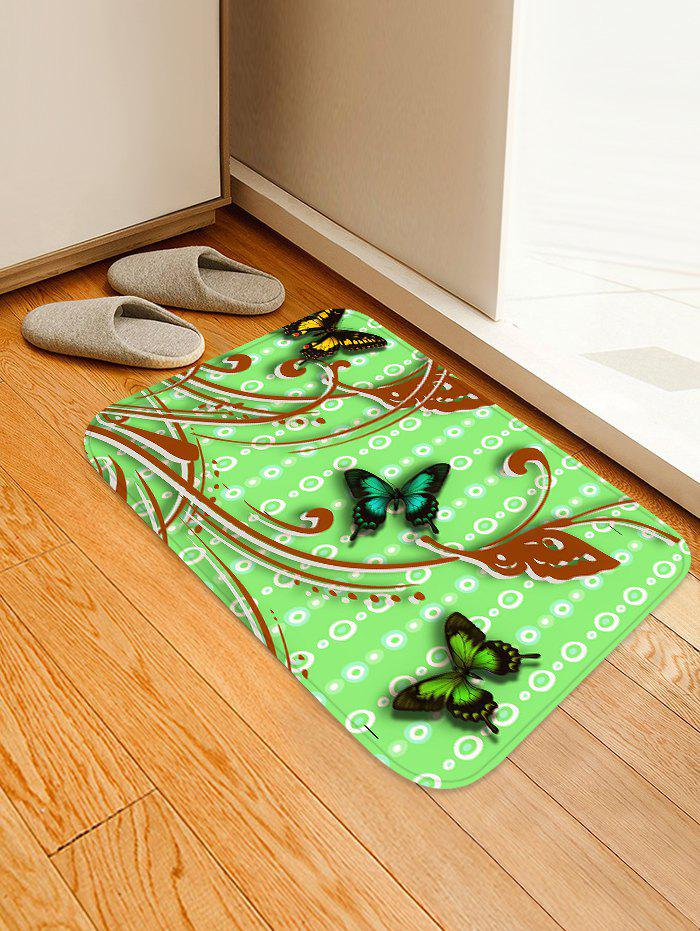 Cheap Butterflies Pattern Water Absorption Area Rug