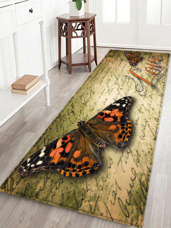 Discount Butterfly Letter Pattern Water Absorption Area Rug