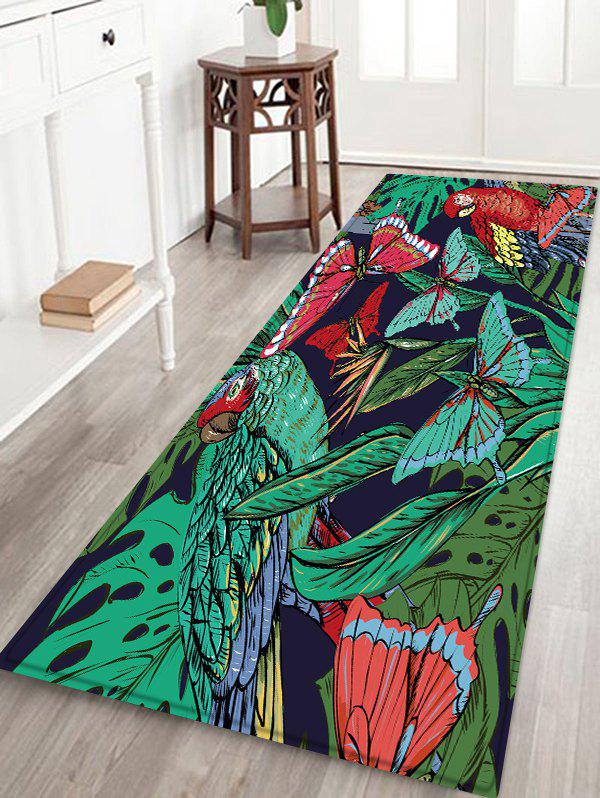 Fancy Butterfly and Bird Pattern Water Absorption Area Rug