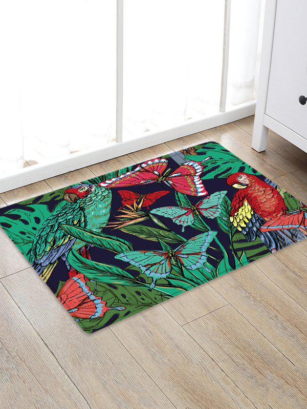 Chic Butterfly and Bird Pattern Water Absorption Area Rug