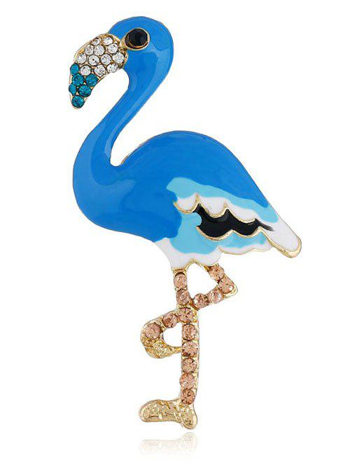 Rhinestone Inlaid Flamingo Pin Brooch