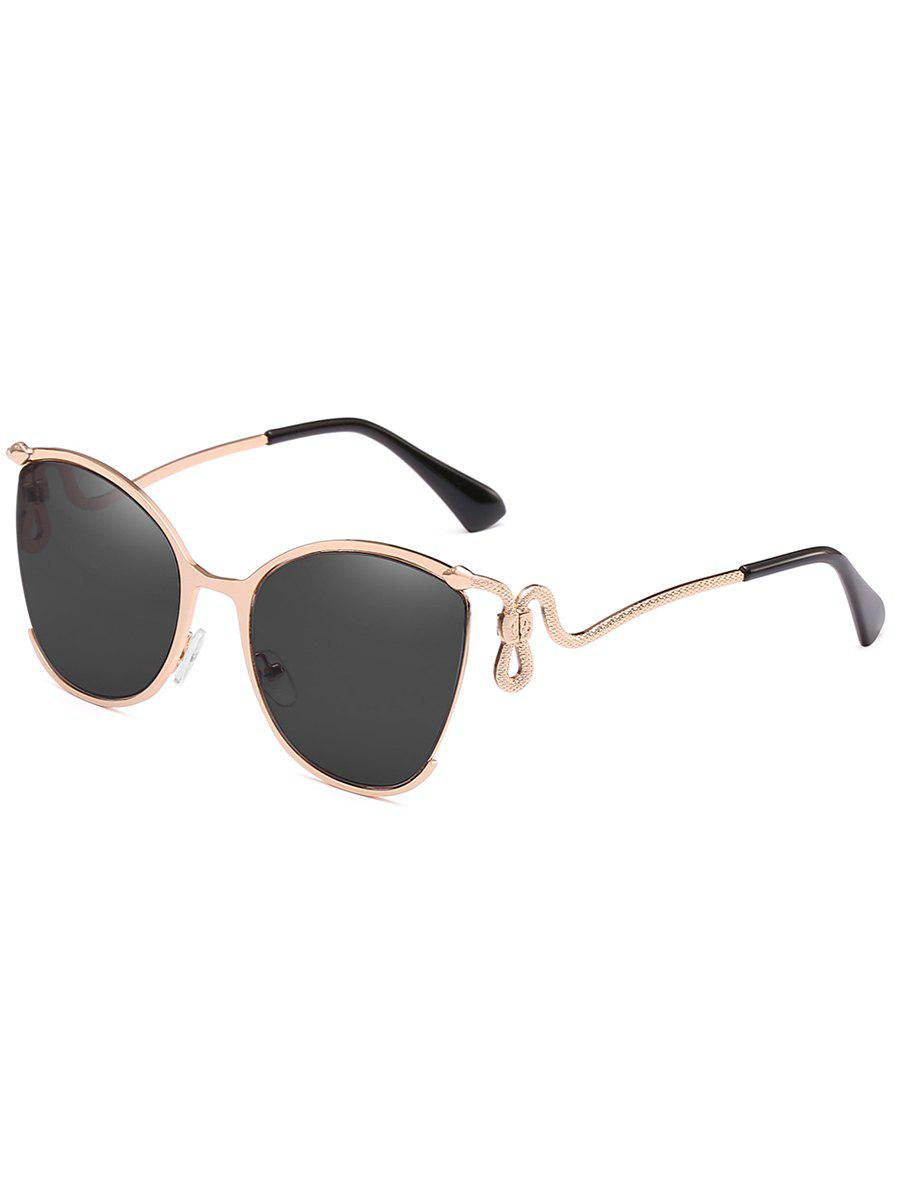 Trendy Unique Half Frame Bent Legs Sunglasses