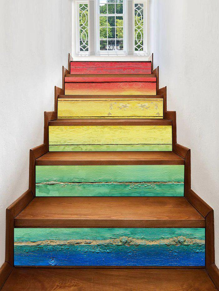 Buy Colorful Ombre Print Decorative Stair Stickers