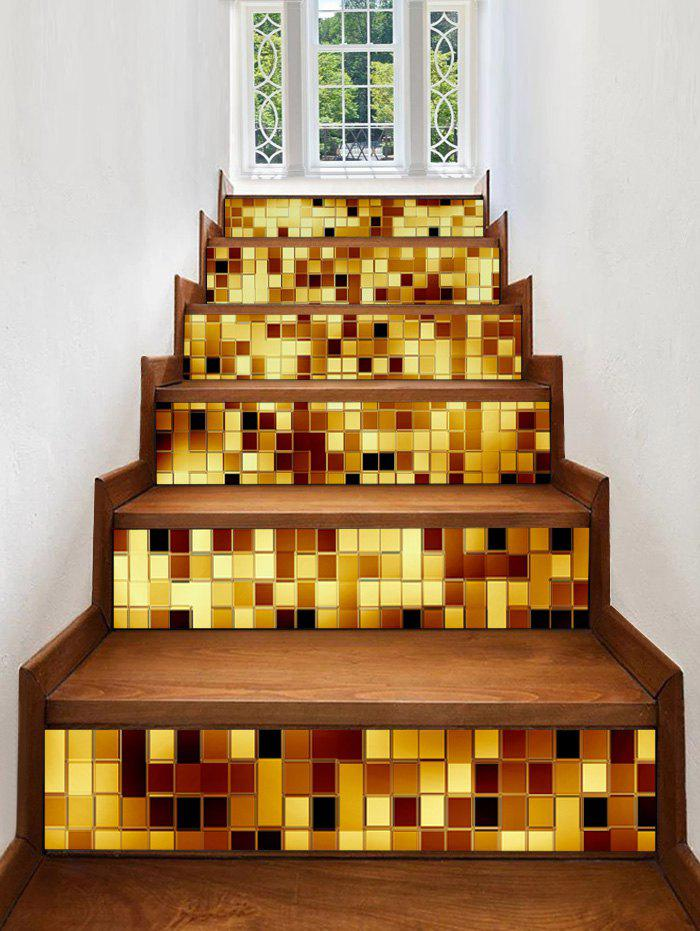Hot Sparkly Plaid Print Decorative Stair Stickers