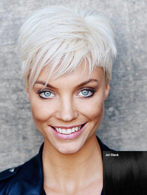 Buy Short Side Bang Straight Capless Human Hair Wig