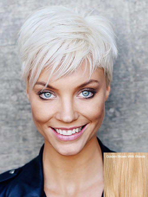 Fancy Short Side Bang Straight Capless Human Hair Wig