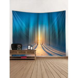 Forest Snowfield Printed Wall Tapestry Hanging Decoration -