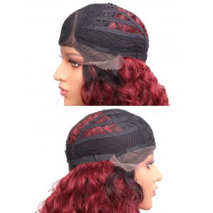 Среднее боковое разделение Colormix Curly Synthetic Lace Front Wig -